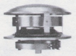 A typical external stovepipe cap, with a spark-arrester rim