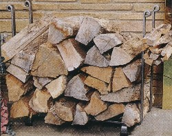 Firewood - side view of stack