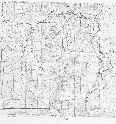 Topographic Map of the Colestin Rural Fire District