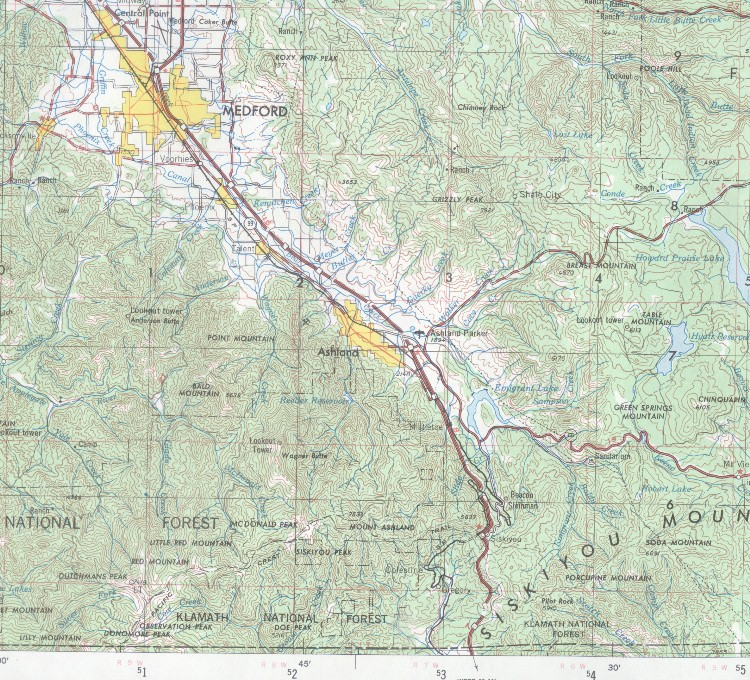 Colestin Rural Fire District Map Geography Map Link
